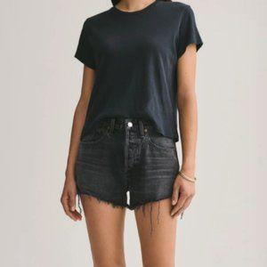 Agolde Parker Vintage Cut Off Shorts Black Size 32